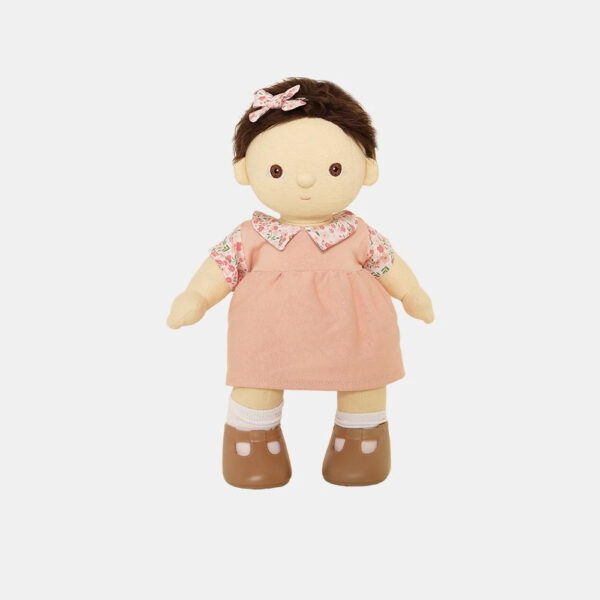Vestido rosa para muneco de trapo – Olli Ella – Dinkum dolls – Liderlamp (1)