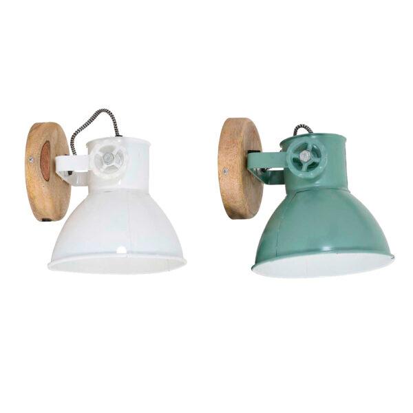 Aplique Elay – blanco – verde antiguo – foco – Light and Living – Liderlamp (1)