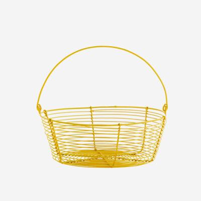 Cesto de alambre - Madam Stoltz - amarillo - macetas frutero - Liderlamp