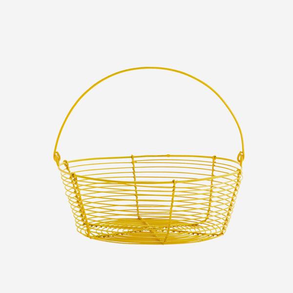 Cesto de alambre – Madam Stoltz – amarillo – macetas frutero – Liderlamp