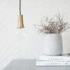 Colgante Funnel – House Doctor – laton cepillado – portalamparas – Liderlamp (3)