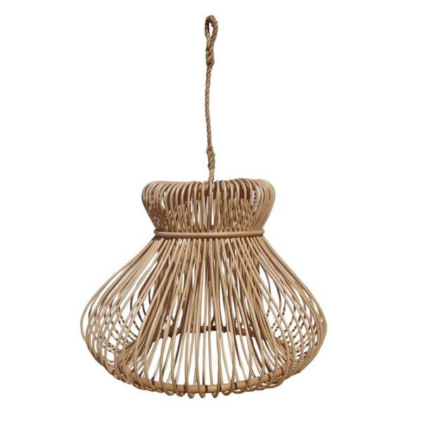 Colgante Mushroom – ratan natural – taller de las indias – Liderlamp (1)