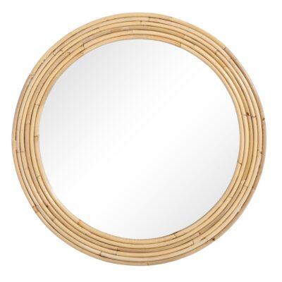 Espejo Gland ratan - decoracion pared - circular - madera - Ixia- Liderlamp (1)