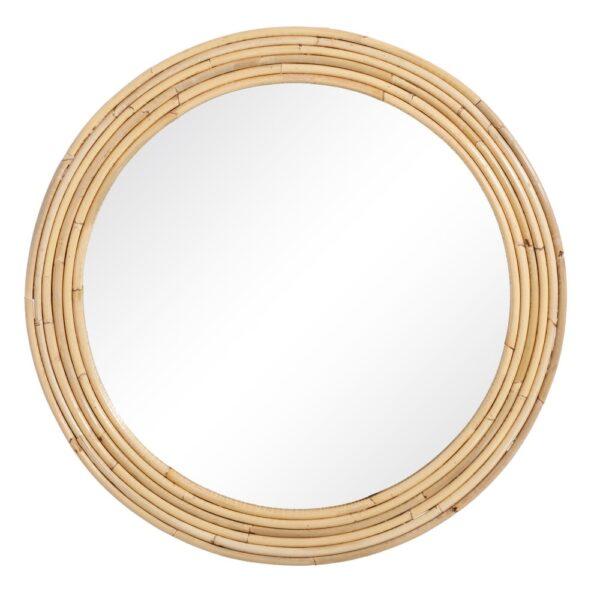 Espejo Gland ratan – decoracion pared – circular – madera – Ixia- Liderlamp (1)
