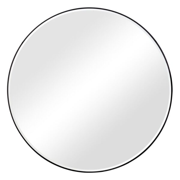 Espejo Isaac negro – decoracion pared – circular – madera – Ixia – Liderlamp (1)