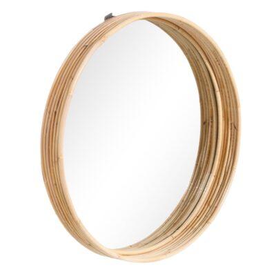 Espejo Julian ratan - decoracion pared - circular - ratan - Ixia - Liderlamp (1)