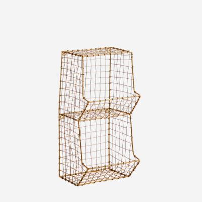 Estanteria de alambre pequena - Madam Stolz - almacenaje pared - oficina - Liderlamp