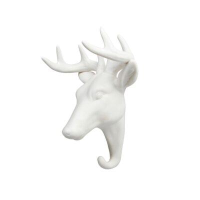 Gancho Ciervo porcelana blanca - dorado - colgador - recibidor - &Kleveling - Liderlamp