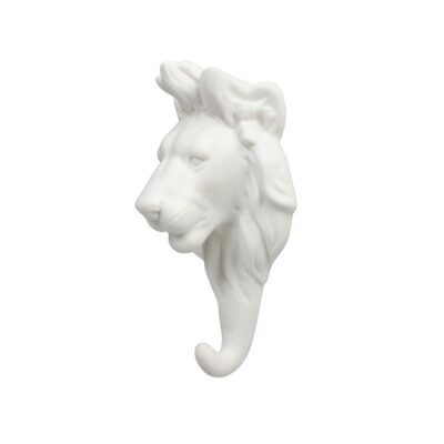 Gancho Leon porcelana blanca - dorado - colgador - recibidor - &Kleveling