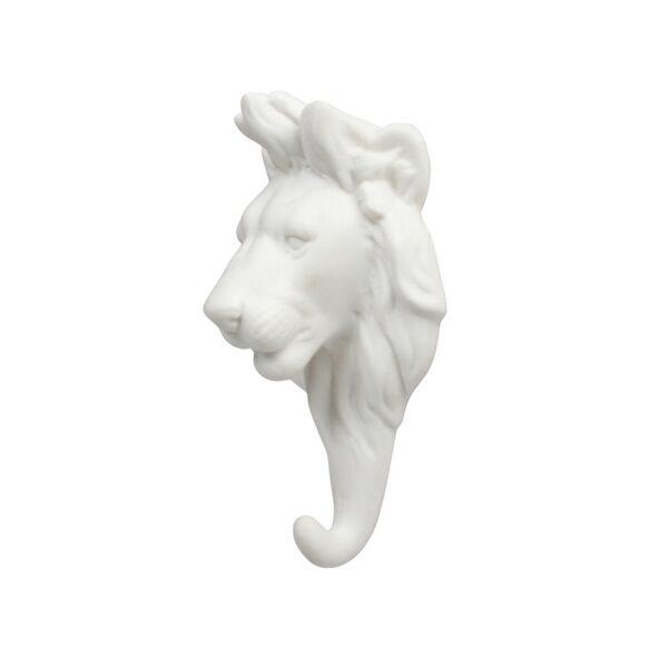 Gancho Leon porcelana blanca – dorado – colgador – recibidor – &Kleveling