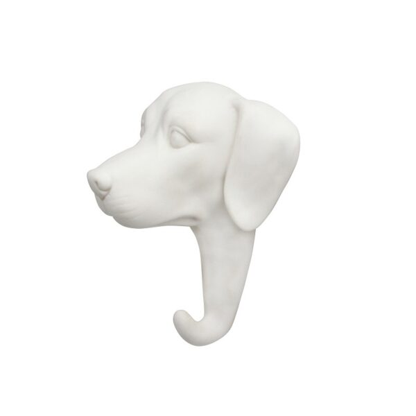 Gancho Perro porcelana blanca – dorado – colgador – recibidor – &Kleveling