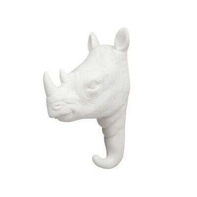 Gancho Rino porcelana blanca - dorado - colgador - recibidor - &Kleveling - Liderlamp