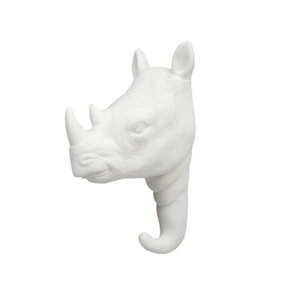 Gancho Rino porcelana blanca – dorado – colgador – recibidor – &Kleveling – Liderlamp