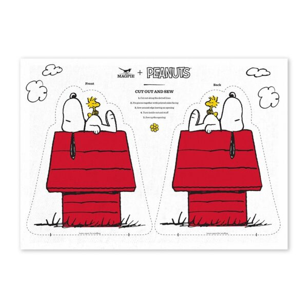 Haz tu cojin de Snoopy – House Cut & Sew – Magpie – kit costura – Peanuts – Liderlamp (1)