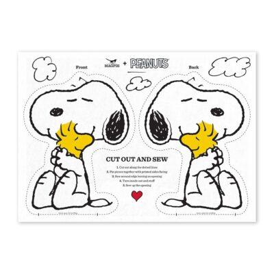 Haz tu cojin de Snoopy - Love Cut & Sew - Magpie - kit costura - Peanuts - Liderlamp (1)
