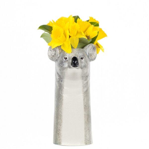 Jarron Koala ceramica – Quail ceramics – Florero – artesanal – flores – Liderlamp