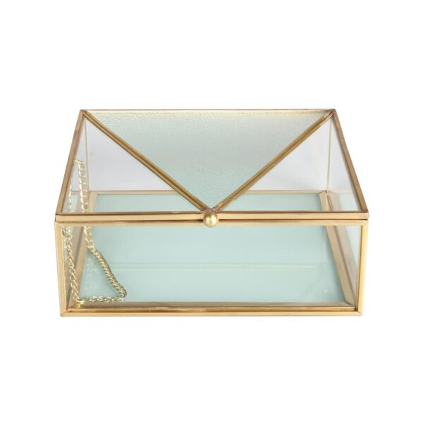 Joyero de cristal azul - Klevering - complementos - orden - dormitorio - Liderlamp (1)