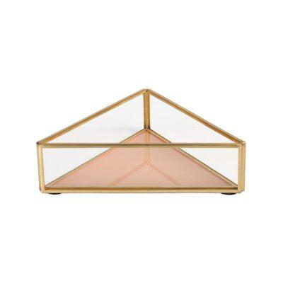 Joyero de cristal triangulo - Klevering - complementos - orden - dormitorio - Liderlamp