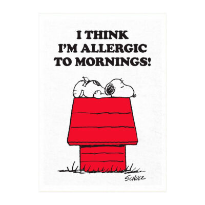 Pano de cocina - Allergic to Mornings - Magpie - Peanuts - Snoopy - Liderlamp (1)