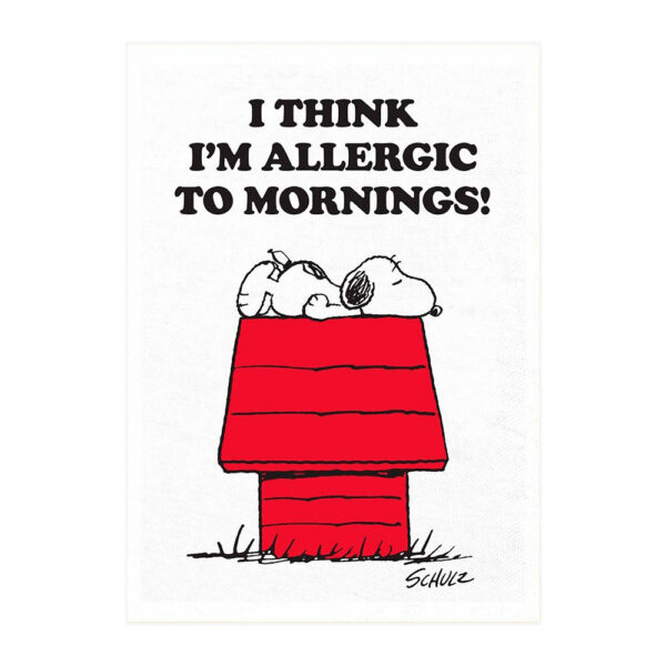 Pano de cocina – Allergic to Mornings – Magpie – Peanuts – Snoopy – Liderlamp (1)