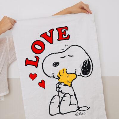 Pano de cocina - Love - textil cocina - deco - Magpie - Peanuts - Snoopy - Liderlamp (1)