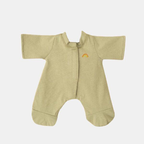 Pijama para muneco de trapo – verde – Olli Ella – Dinkum dolls – Liderlamp (1)