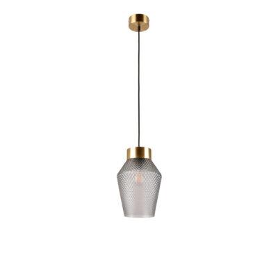 Colgante Acerola - cristal y metal - textura - minimalista - lujo - Marketset - Liderlamp (1)
