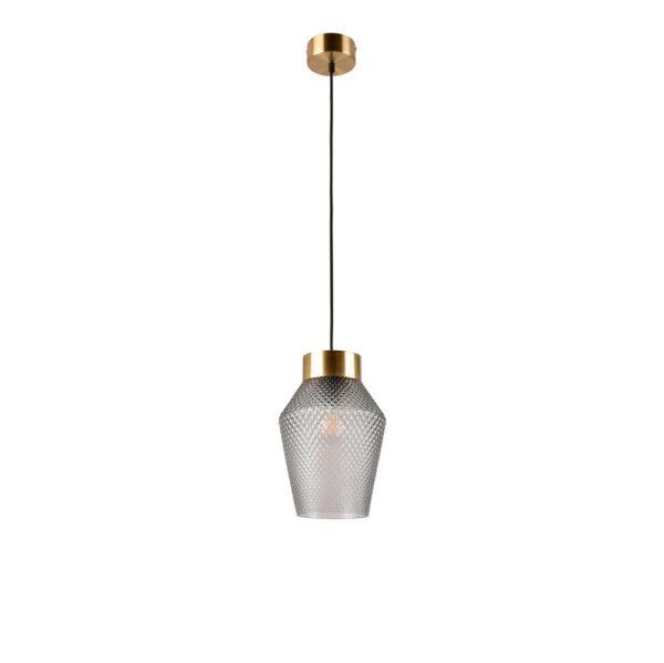 Colgante Acerola – cristal y metal – textura – minimalista – lujo – Marketset – Liderlamp (1)