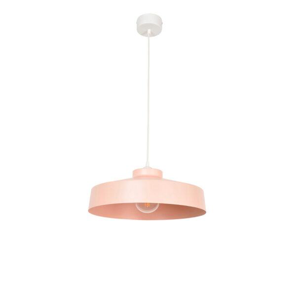 Colgante Archi – rosa – metal – cable textil – retro – Marketset – Liderlamp (3)