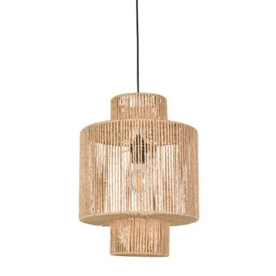 Colgante Cancun - cesta - papel trenzado - fibras naturales - Market set - Liderlamp (1)