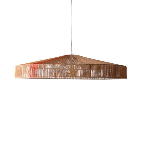 Colgante Cape – tierra – cuerda de papel – HKliving – mostaza – negro – Liderlamp (1)