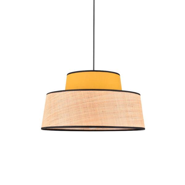 Colgante Mallorca - amarillo - rafia - algodon - fibras naturales - Market set - Liderlamp (1)