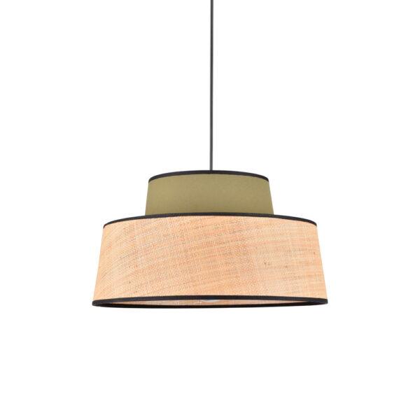 Colgante Mallorca – kaki – rafia – algodon – fibras naturales – Market set – Liderlamp (1)
