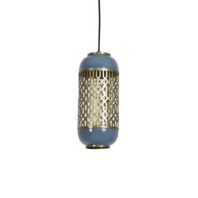 Colgante Rohut - Azul acero - Light & Living - farol - celosia - metal - Liderlamp (1)