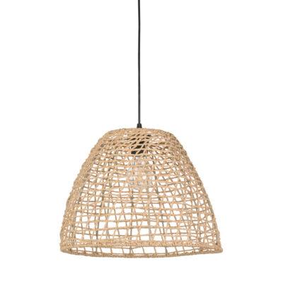 Colgante Tulum - cesta - papel trenzado - fibras naturales - Market set - Liderlamp (1)