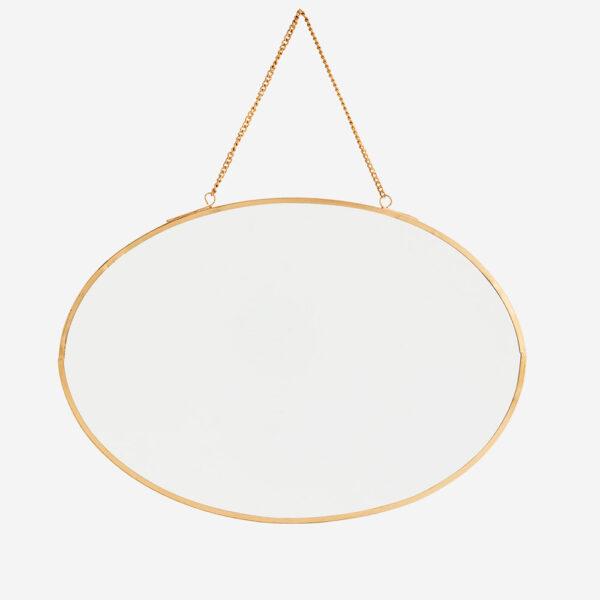 Espejo oval - cadena - decoracion pared - Madam Stolz - dorado - Liderlamp (2)