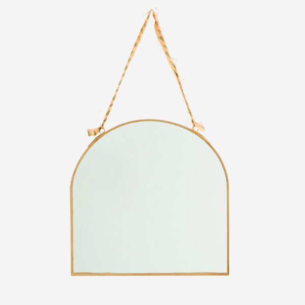 Espejo oval - cinta algodon - decoracion pared - Madam Stolz - dorado - Liderlamp