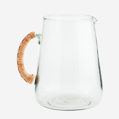 Jarra de cristal - asa bambu - Madam Stoltz - menaje hogar - cristaleria - Liderlamp (1)