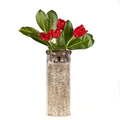Jarron Nutria ceramica - Quail ceramics - Florero - artesanal - flores - Liderlamp (1)