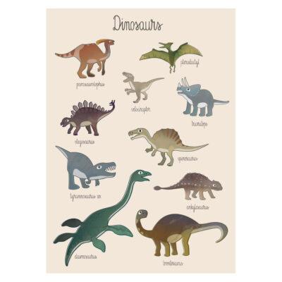 Lamina Dinos - Sebra - dinosaurios - ilustracion - habitacion ninos - Liderlamp