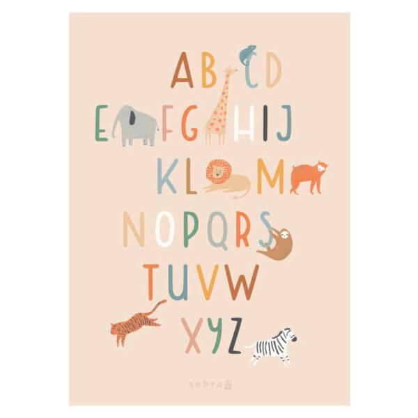 Lamina Wildlife – abecedario – Sebra – animales – habitacion ninos – Liderlamp