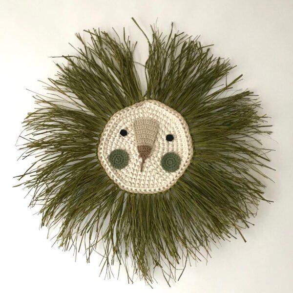 Leon – oliva – deco ninos – Artesanal – Ila y Ela – crochet