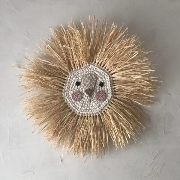 Leon – rosa – deco ninos – Artesanal – Ila y Ela – crochet – Liderlamp (1)