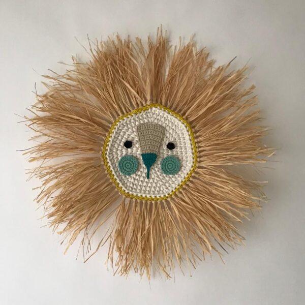 Leon – turquesa – deco ninos – Artesanal – Ila y Ela – crochet – Liderlamp