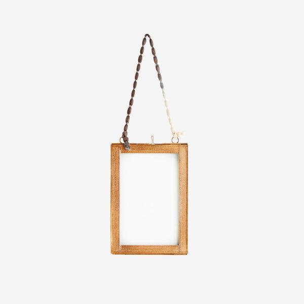 Marco de fotos – cinta bicolor- etnico – Madam Stolz – dorado – Liderlamp