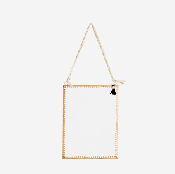 Mini espejo rectangular – decoracion pared – Madam Stolz – dorado