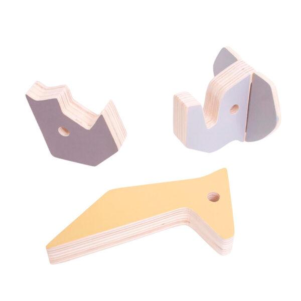 Percha de pared animales – madera – colgador – habitacion ninos – Liderlamp (1)