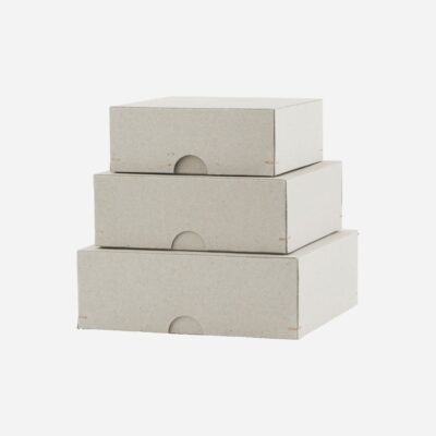 Set de cajas de carton - cuadradas - escritorio - Monograp - papeleria - Liderlamp (1)