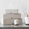 Set de cajas de carton – rectangular – escritorio – Monograp – papeleria – Liderlamp (2)