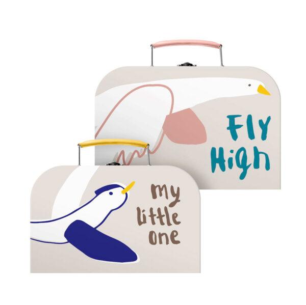 Set de maletines – pajaros – Sebra – maletas de carton – almacenaje – Liderlamp (1)